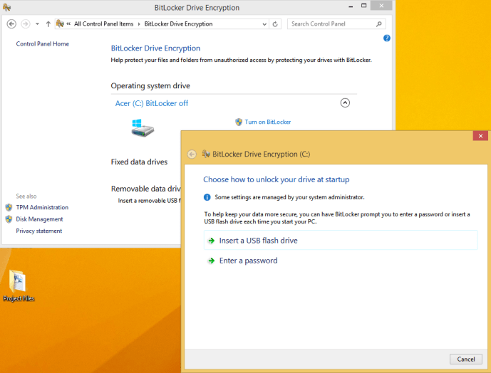 Configure BitLocker