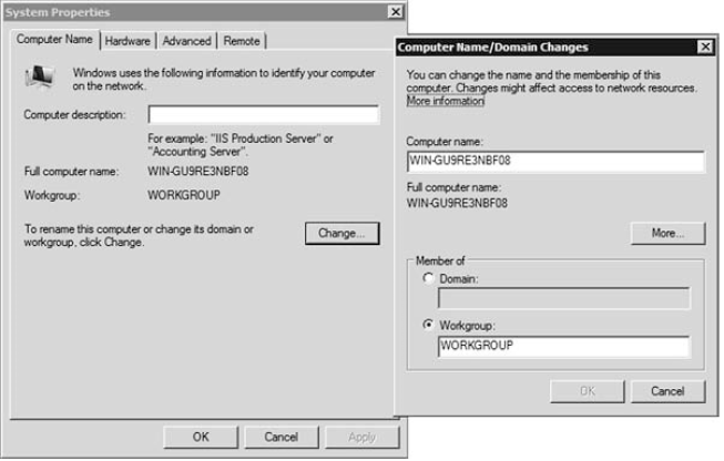 Changing Computer Name and Domain Settings 1