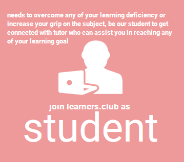 Join Learners.Club as Student