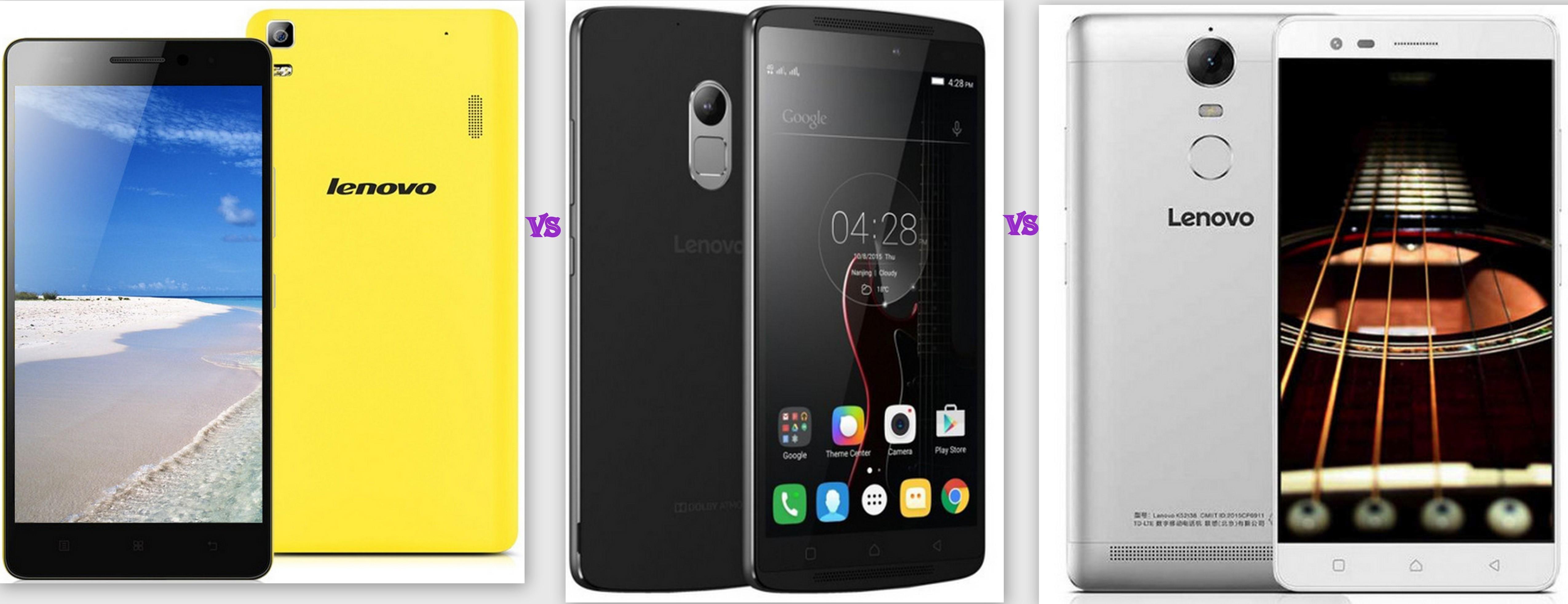 Lenovo K3 Note Vs Lenovo K4 Note Vs Lenovo K5 Note Full