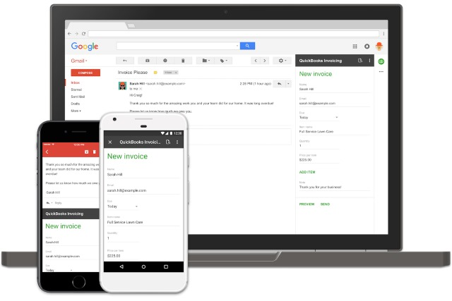Gmail comes with  Update Add-ons