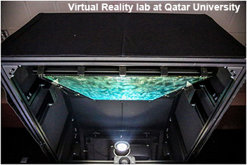 Stereo projector Virtual Reality lab at Qatar University