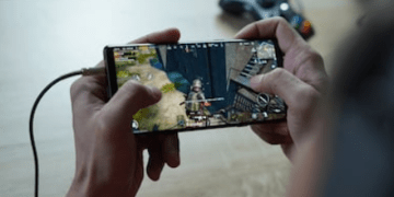 Playing game with a smartphone