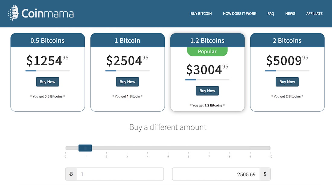 coinmama bitcoin exchange review