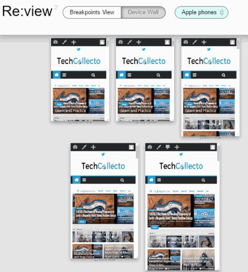 responsive website at different resolutions