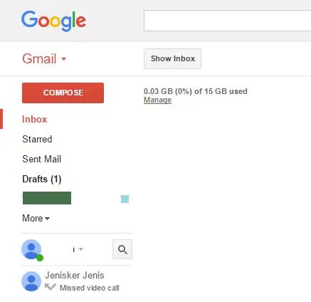 Gmail Inbox is hidden