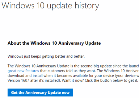 get the anniversary update now
