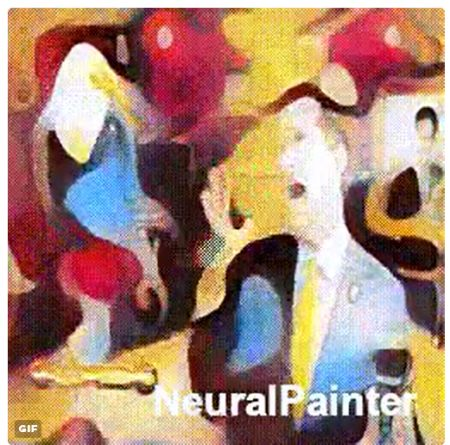 animated gif turned to art with new filter