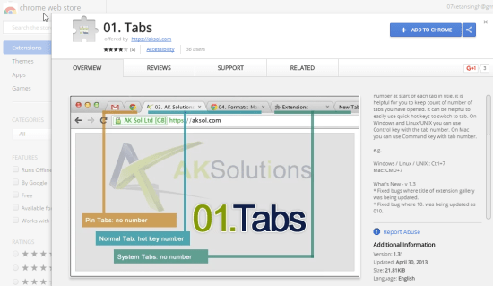 Chrome Extension That Automatically Adds Numbers To Tabs