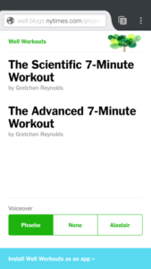 7 minutes workout by New York Times