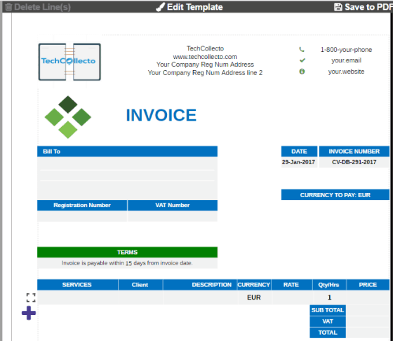 Invoice To PDF  Free Online Invoice Generator  Invoice Generator Pdf
