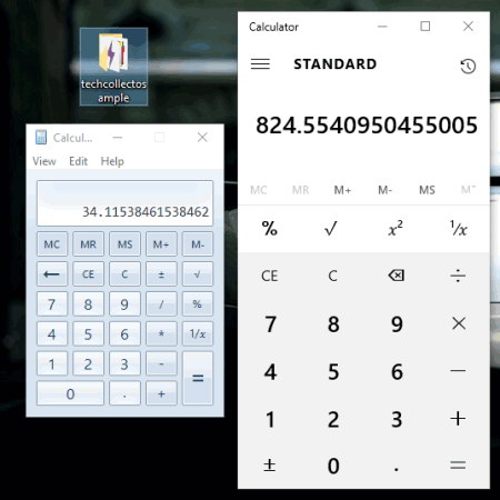 how to get back calculator in windows 10