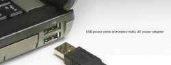 power via USB