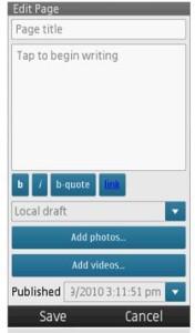 Wordpress for nokia app backend