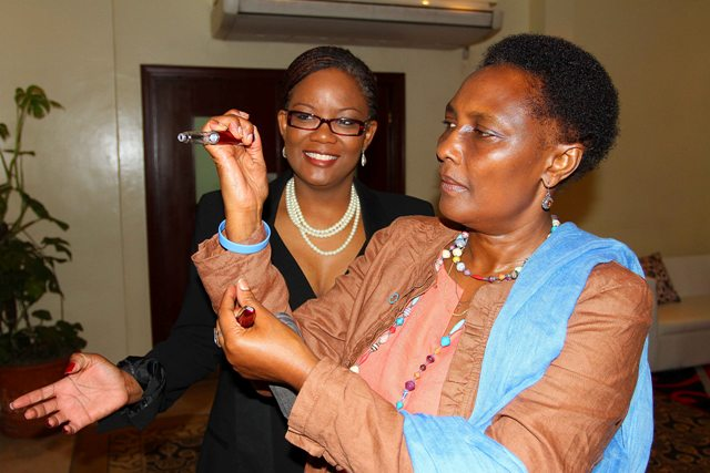 Dr. Eva Njenga and Belinda Bhoodoo Lilly Diabetes