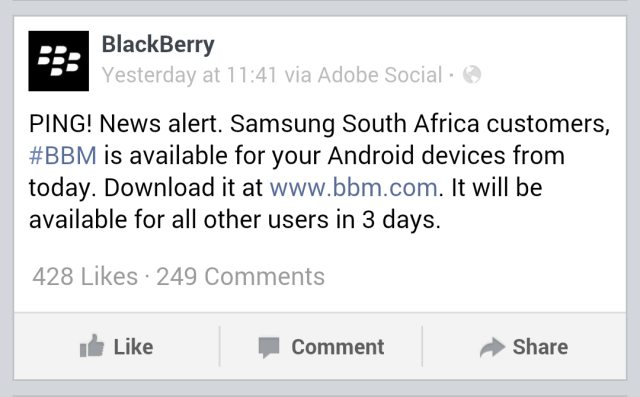 BBM or Android in Africa