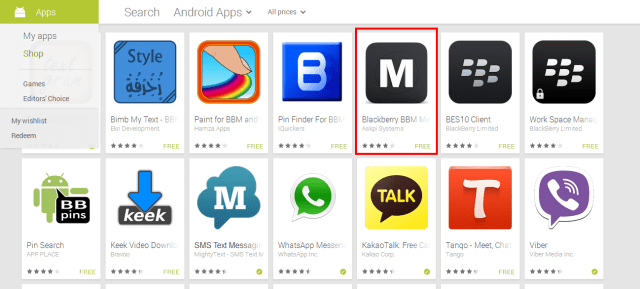 Fake BBM for Android apps are no more on the Play Store