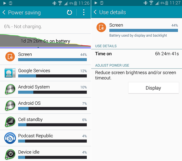 Galaxy Note 4 battery life