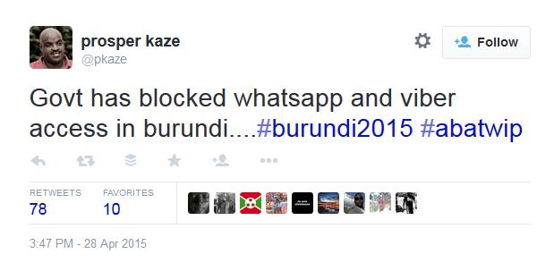 social media blocked in burundi