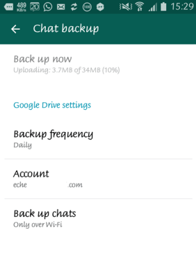 whatsapp google drive backup 3