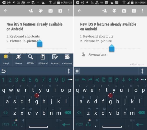 ios 9 keyboard shortcuts android