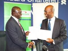 Lamin Manjang (CEO Standard Chartered Kenya) & Bob Collymore (Safaricom CEO)