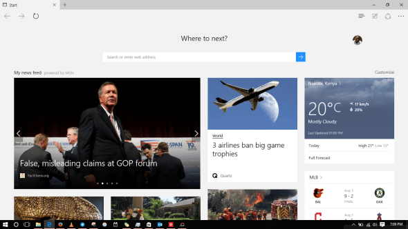 windows 10 - microsoft edge browser