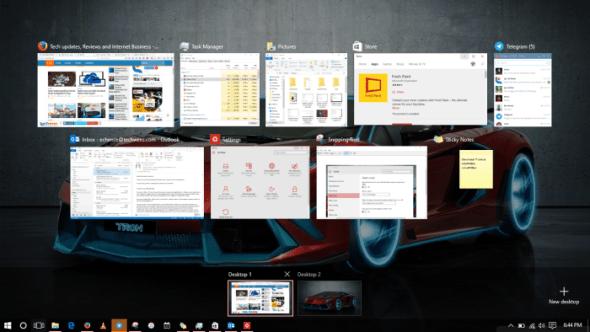 windows 10 - task view