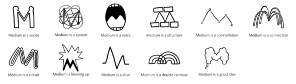 medium logo prototypes