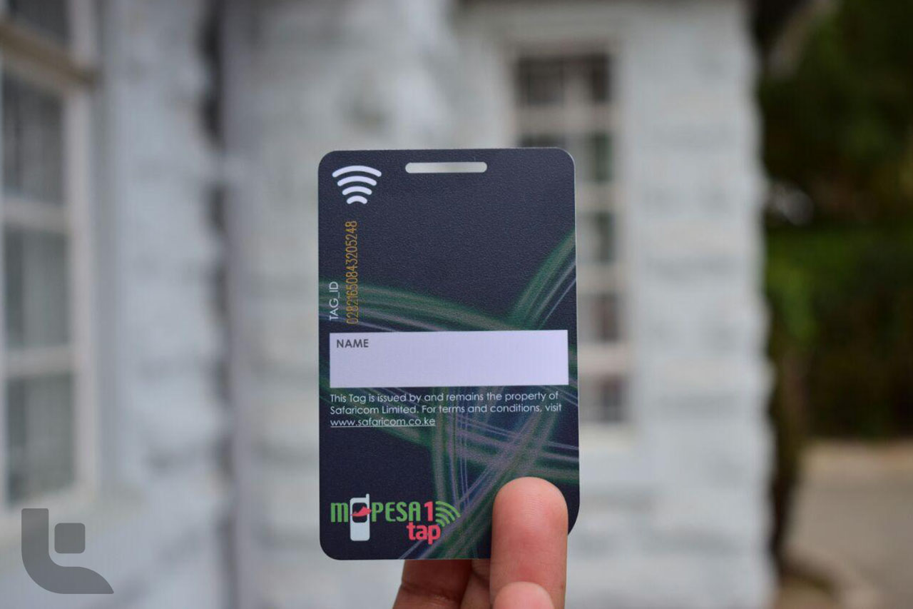 M-Pesa 1 Tap Card back
