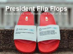 president trump tweets flip flops