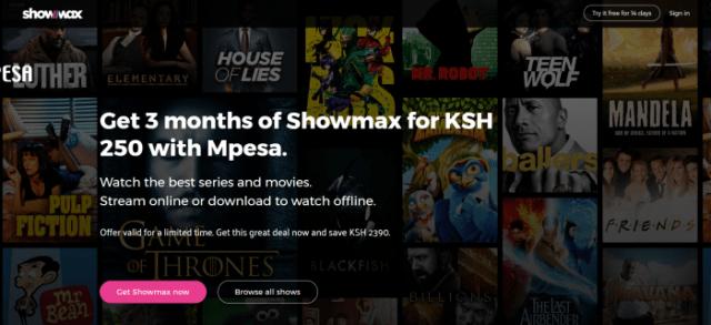 showmax mpesa discount