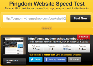 Speed test of bookshelf
