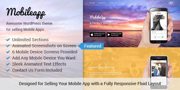 Mobile app theme featured image