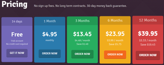 pricing per month