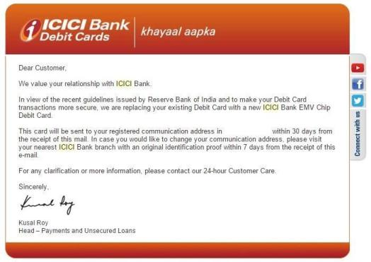 ICICI replacements