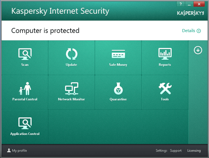 user interface of security