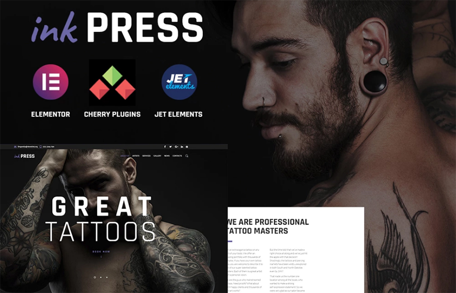 Tatoo Salon WordPress Theme