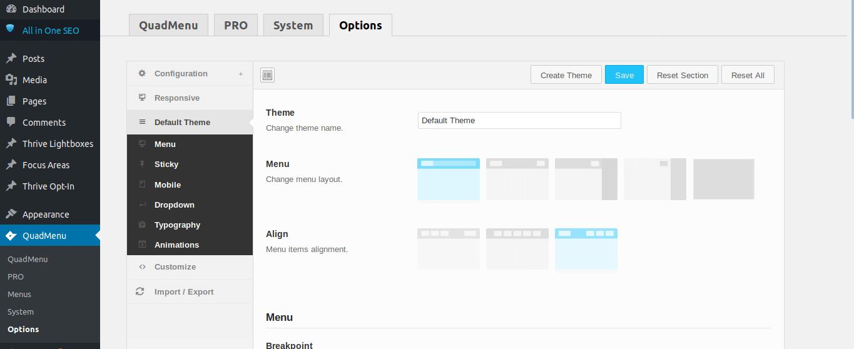 Create Custom Menu with QuadMenu - 1