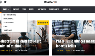 reactor wordpress theme