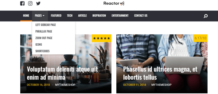 reactor wordpress theme