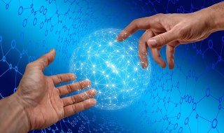 Internet, Cyber, Network, Finger, Touch Screen