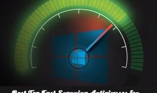 antivirus fast for windows 10