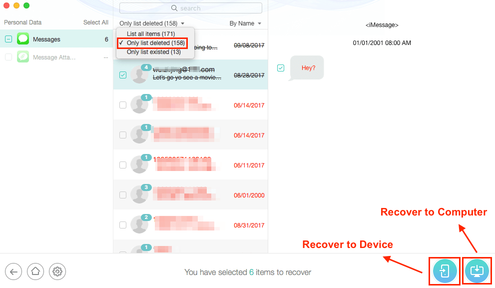 Recover Lost Messages After iOS 13/12.4.1/12 Update from iCloud - Step 4