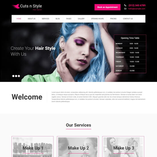 cutsnstyle-wordpress-spa-and-salon-themes
