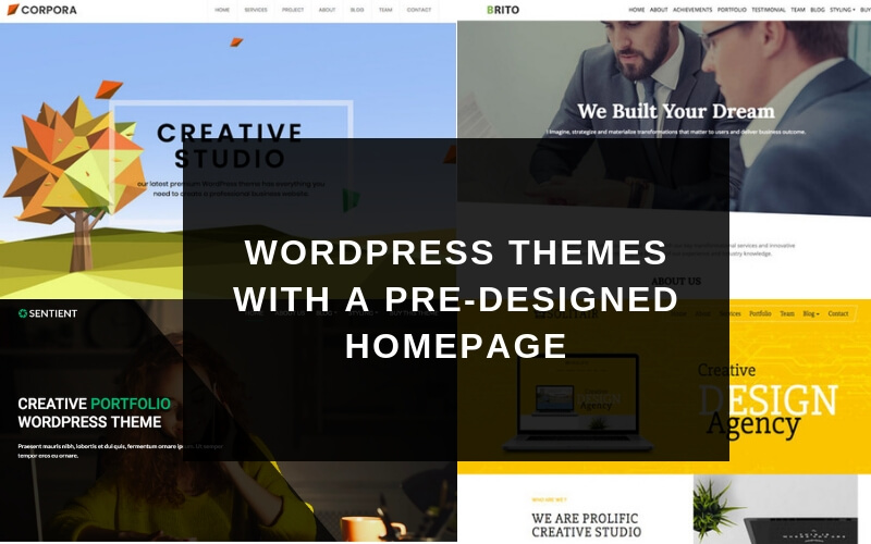 7 WordPress Themes with a Predesigned Homepage | DealFuel