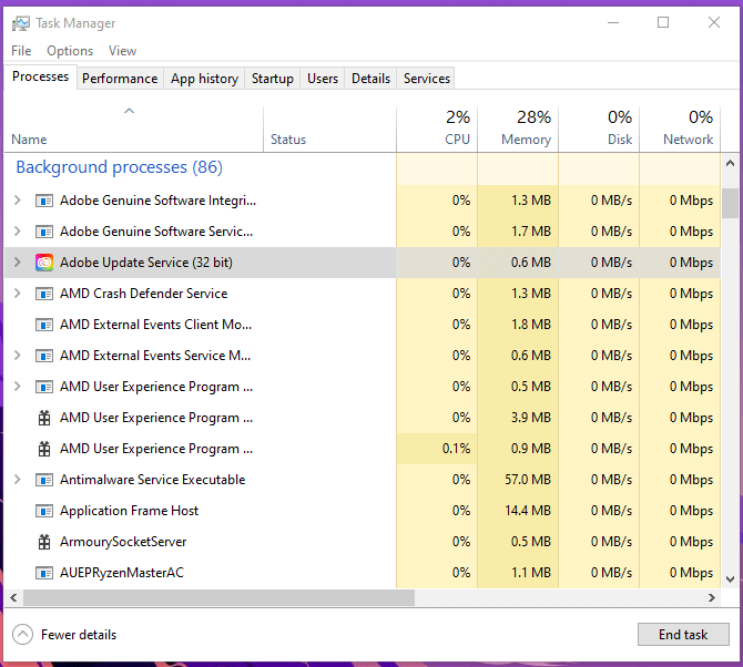 Close Programs using Task Manager