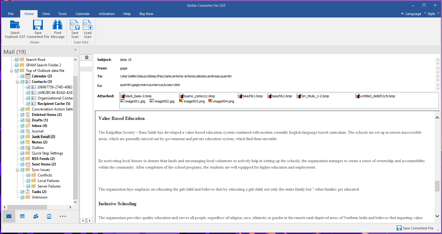 Stellar Preview Mailbox Data