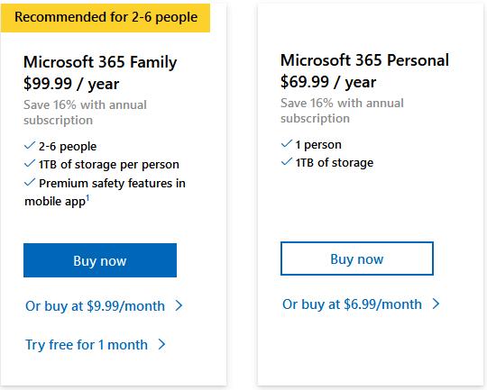 Microsoft Office 365 Pricing