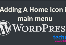 adding a icon in main menu wordpress
